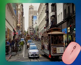 San Francisco Downtown Trolley Car Tourist Trap Mouse Pad - $7.23