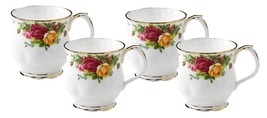 Royal Albert Old Country Roses Coffee Mugs, Set of 4 NEW - $84.14