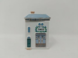 Lenox Spice Village Sage Spice Jar Cottage House Replacement Ceramic VTG... - $7.91