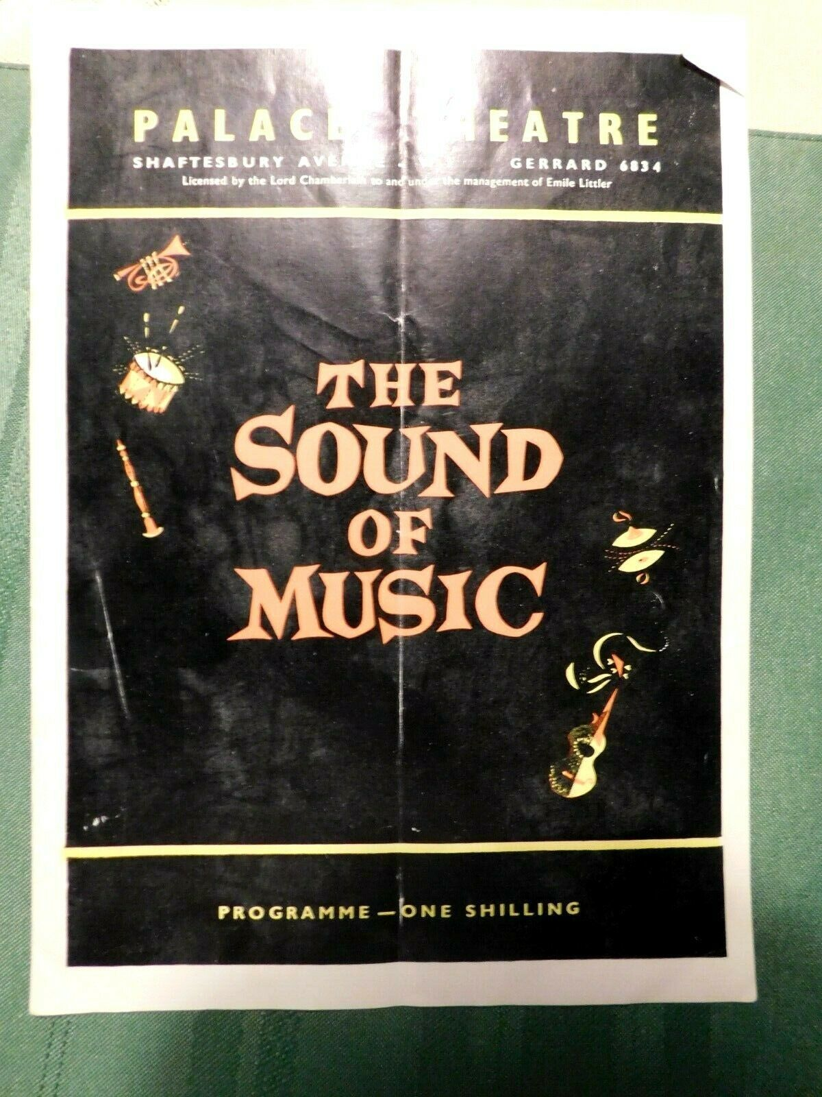 Primary image for Vtg The Sound of Music Palace Theatre Programme Program Playbill Shaftesbury Ave
