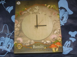 Disney Store Bambi 75TH Anniversary Wall Clock Limited Edition Of 500 New D23 - $54.99