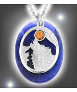 Haunted NECKLACE WOLF PROTECT SURVIVE SPIRIT VESSEL MAGICK STERLING Cass... - $55.77