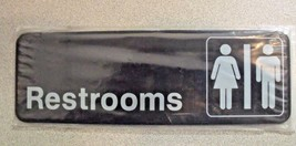Advantus 83630 Contemporary Restrooms Sign with International - $1.49