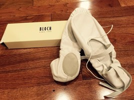 Bloch So203l Prolite II White Leather Hybrid Ballet Shoes 8c, New (Runs ... - $22.43