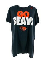 "Nike Women's Oregon State OSU Beavers ""Go Beavs"" Black Slim Fit T-Shirt Size 2XL - $17.82"