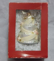 Nordstrom at Home Decorated Cake Glass Christmas Ornament - $14.85