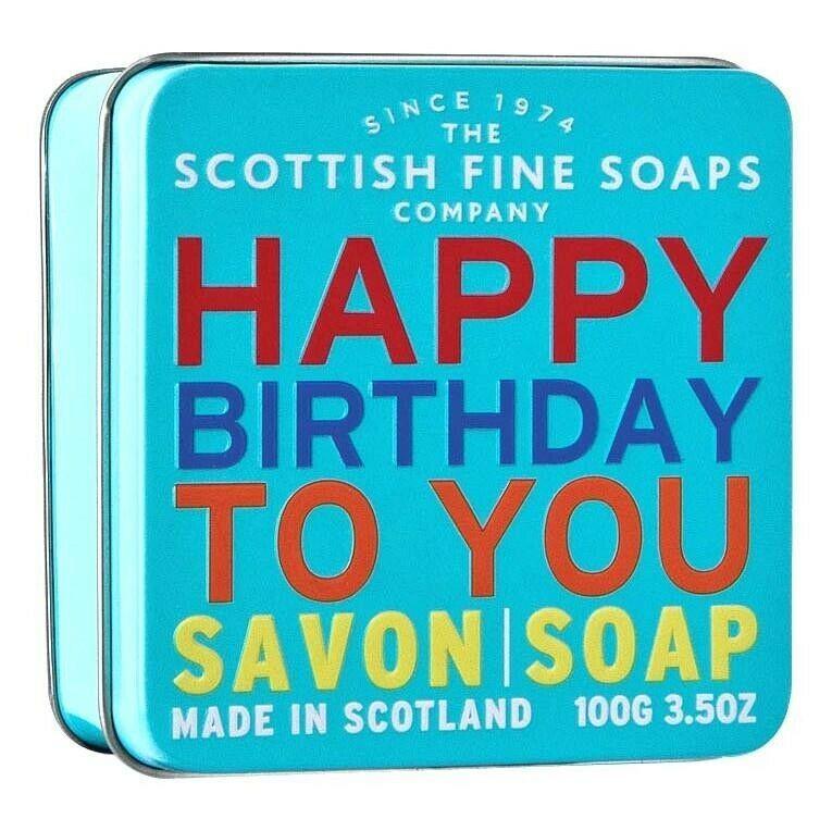 Scottish Fine Soaps Happy Birthday To You - Sea Kelp Soap in a Tin 100g 3.5oz