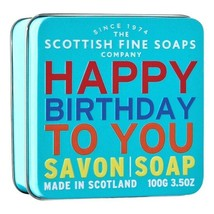 Scottish Fine Soaps Happy Birthday To You - Sea Kelp Soap in a Tin 100g ... - $12.00