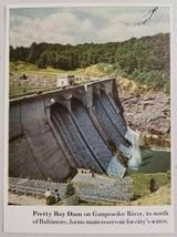 1947 Magazine Photo Pretty Boy Dam Gunpowder River near Baltimore,MD - $8.39