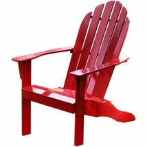 Wood Adirondack Chair Outdoor Lawn Patio Furniture Solid Wood Fan Back R... - $95.83