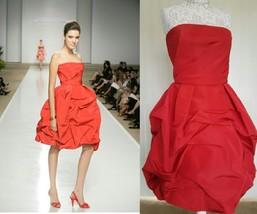 $7K Stunning In Love Red From Oscar De La Renta Silk Gown Dress Runway L - $1,600.00