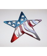 "Stars and Stripes Barn Star Metal Wall Art Decor 14"" Red/White & Blue - $27.71"