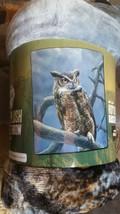 Owl  in the Wild American Heritage Woodland Plush Raschel Throw blanket - $23.75