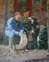 When Freedom Isn't Free By Bruce Greene Cowboy & Soldier SN LE Giclee On Canvas - $395.01