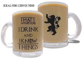 I Drink & I Know Things - 10oz Glass Mug/Cup - Game of Thrones Inspired ... - $30.93