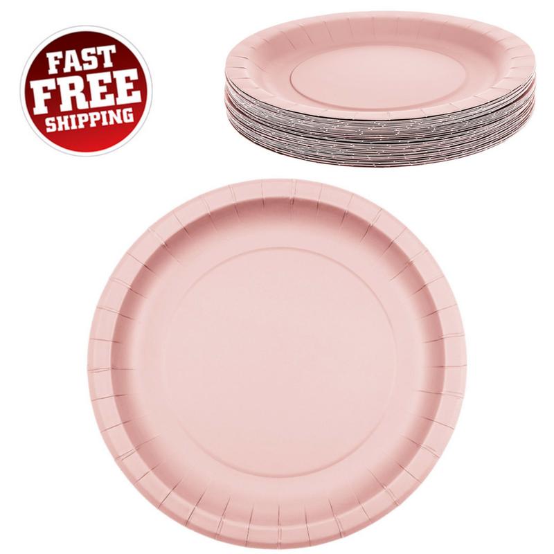 57. 57. Light Pink Disposable Plates ...  sc 1 st  Bonanza & Light Pink Disposable Plates 40 Pack 9 Inch and 50 similar items