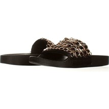 Steve Madden Chains Chain Link Slide Sandals 159, Black, 6 US - $9.58