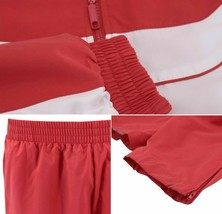 Men's Casual Running Jogging Gym Fitness Straight Leg Red Tracksuit Set 3XL image 2