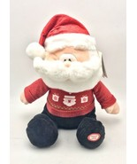 Holiday Ugly Sweater Song Santa Plush Animated Music Led 12 Inch tall New - $29.69