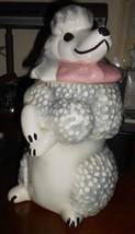 Vintage Pasadena California Sierra Vista Ceramic Poodle Cookie Jar 1956 - $49.49