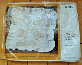 The Creative Circle Kit 0465 Colonial Welcome Embroidery Stitch Pillow 1984 New - $14.50