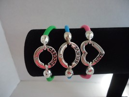 Lot of (3) Symbolic Bracelets Love Believe Succeed - $10.99