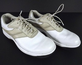 FootJoy Womens Golf Shoes Size 6.5 Contour Series White Leather Soft Spikes  - $17.77