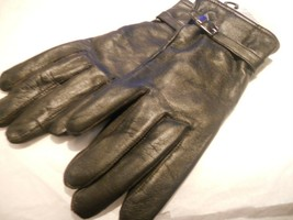 Kim Rogers Brown Buckle Buttersoft Leather Gloves,M-See Description for ... - $27.71
