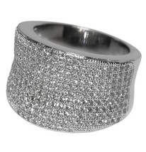 MICRO PAVE WIDE FRONT ETERNITY CZ CUBIC ZIRCONIA RING BRIDAL - $54.99