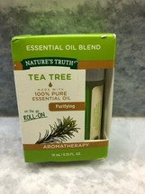 LOT OF 2 NATURES TRUTH TEA TREE PURIFYING ESSENTIAL OIL ROLL ON  .33 OUN... - $12.19