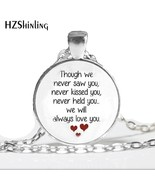 HZ--A403 New Miscarriage Keepsake Necklace Loss of Unborn Baby Jewelry G... - $8.08