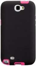 Case-Mate Tough Cases for Samsung Galaxy Note 2 - Black/Lipstick Pink - $6.38
