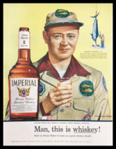 1955 Imperial Hiram Walker Blended Whiskey Vintage Print Ad - $14.20