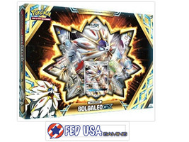 Solgaleo GX Collection Box Pokemon TCG  4 Booster Packs + Promo Card - $28.99