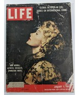 LIFE Magazine Jan 11 1960 VTG RARE Sample Copy Dina Merrill World Crime ... - $26.61