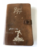 Vintage UK England Road Map Book 50s 60s Leather Cover Pocket Sz Bowl Fa... - $67.50