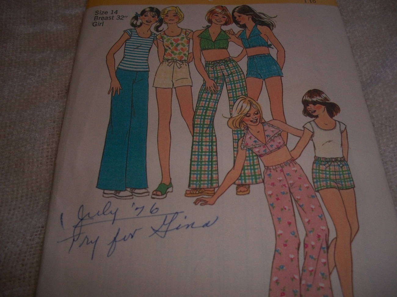 Primary image for Girls' Pants or Shorts, Pullover or Halter Top Pattern Simplicity 6952