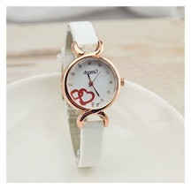 Ladies Women's Watch Casual Thin Band Leather Round WristWatch AH2