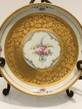 Pickard Floral Hand Painted Handled Bowl Dish Gold Early Mark Signed - $35.00