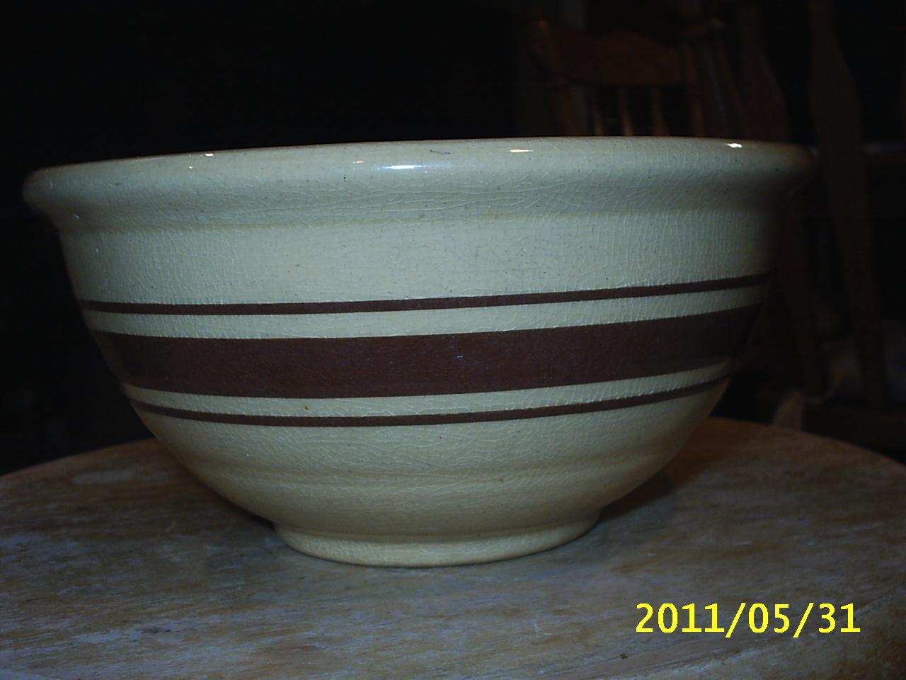 Vintage Yellow Ware? Small Mixing Bowl and similar items