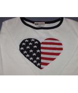 Americana Heart Sweater - Medium 8/10 - Made in... - $12.00