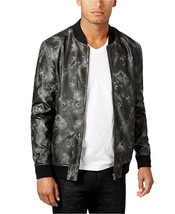 $130 INC International Concepts Men's Faux-Leather Bomber Jacket, Black,... - $59.39