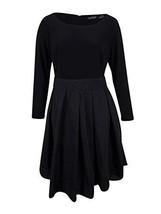 NWT Ralph Lauren Women's Plus Size Jersey Taffeta Dress, Black Size 20W - $83.01