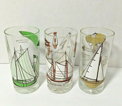 Continental Can Co. Tumblers Nautical Boat Sailing Glasses Vintage Mid C... - $17.77