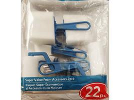 Artist's Loft Super Value Foam Brush Accessory Pack, 22 Pieces