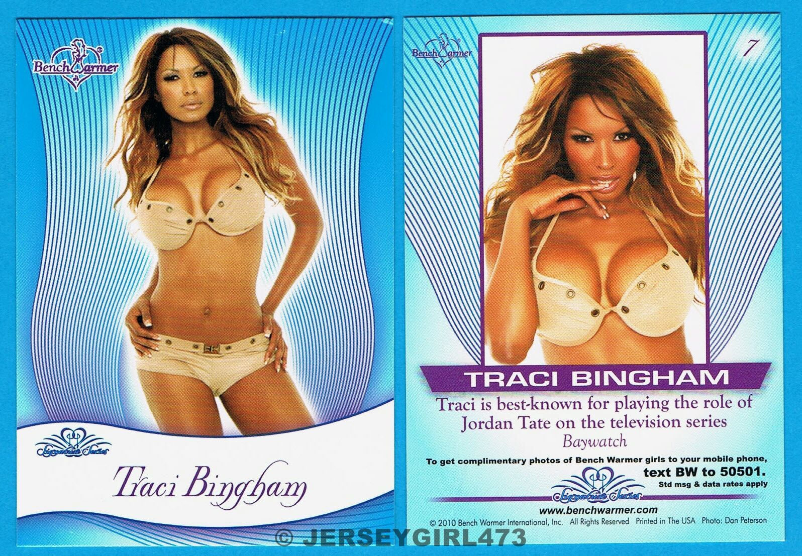 Traci Bingham 2010 Bench Warmer Signature Series Card #7 ~ BAYWATCH
