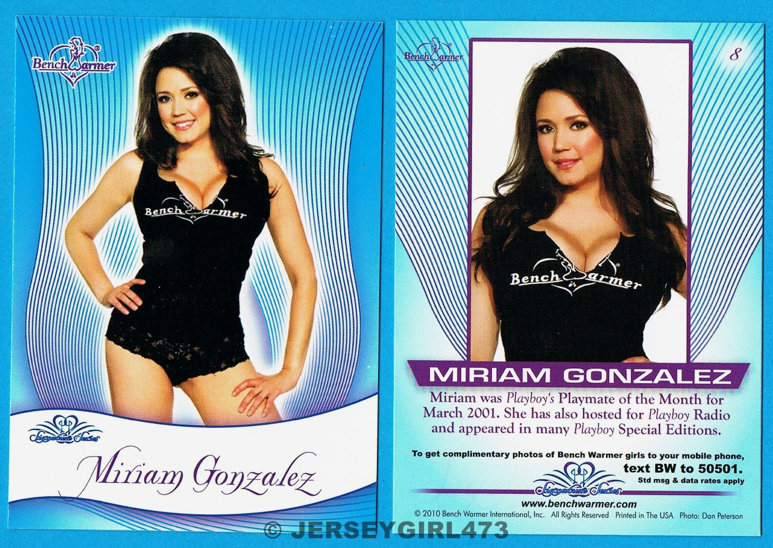 Miriam Gonzalez 2010 Bench Warmer Signature Series Card #8