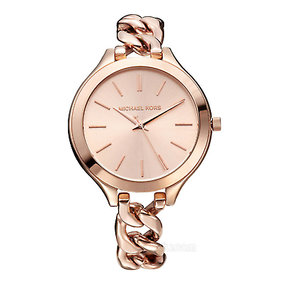 Primary image for Michael Kors Women's Slim Runway MK3223 Bracelet Round 42mm Rose Gold Watch