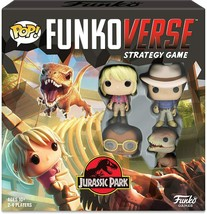 NEW SEALED POP! Funkoverse Board Game Jurassic Park #100 Base Set w/ 4 F... - $23.12