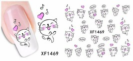 Water Transfer Watermark Art Nails Decal Sticker Manicure Cats YZW1469 - $1.47